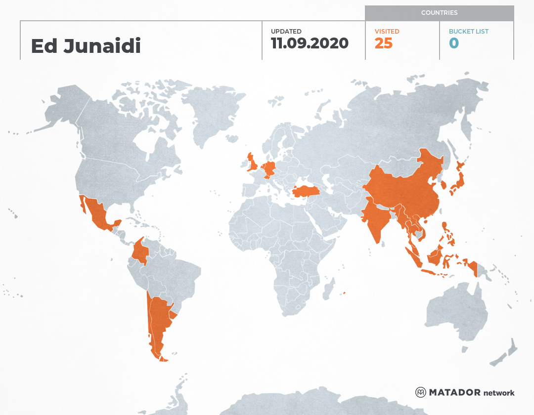 Ed Junaidi's Travel Map