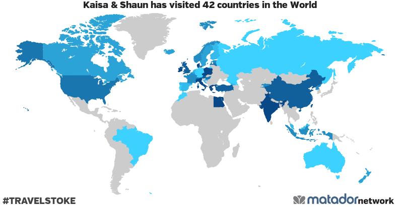 Kaisa & Shaun's Travel Map