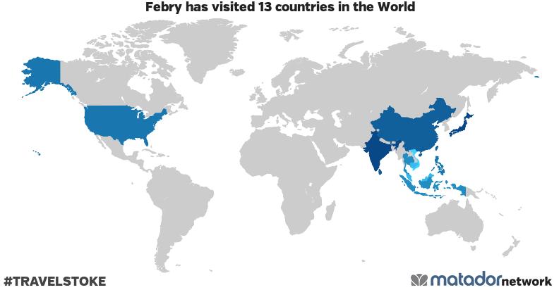 Febry's Travel Map