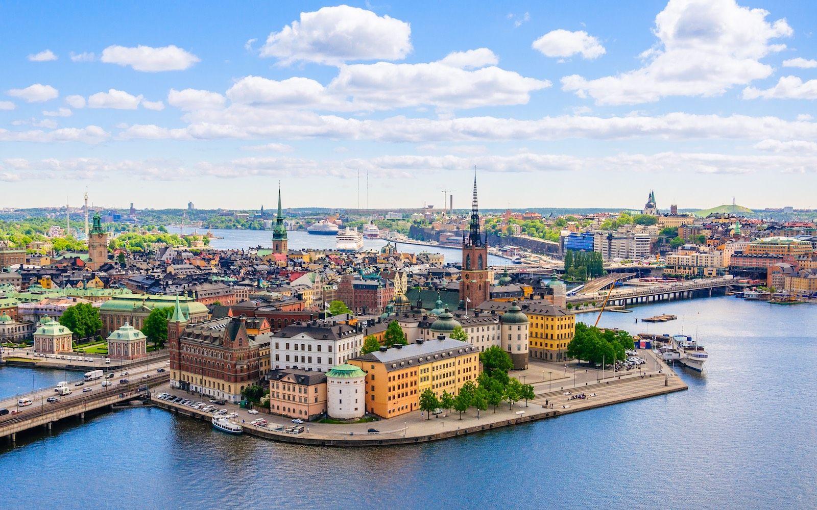 Stockholm Sweden cityscape panorama destinations