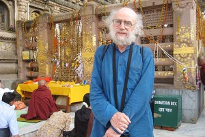Author at the Bodhi tree