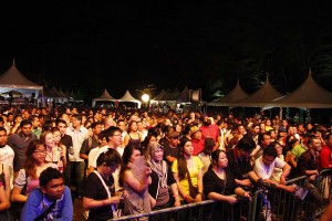 Crowd at Borneo Jazz