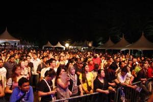 Crowd at Borneo Jazz