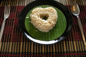 heart made of rice