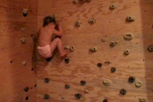22 month old rock climber