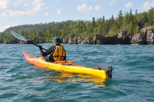 kayaking kayak lake superior