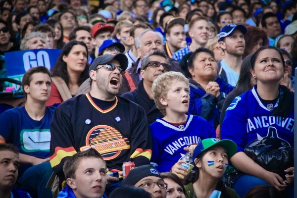 Angry Canucks fan