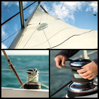 A montage of sailing pics by Michael Condon