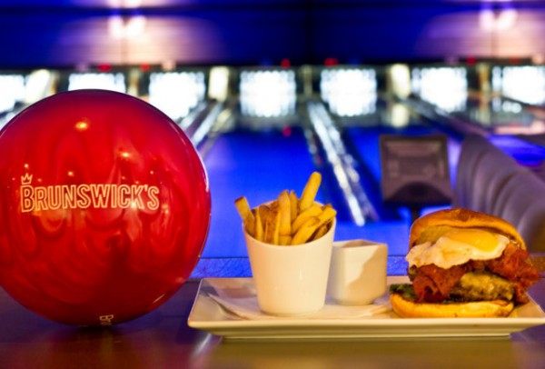 A burger and fries at Brunswick's