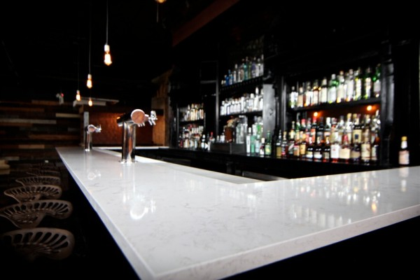 A white bar top in Scofflaw