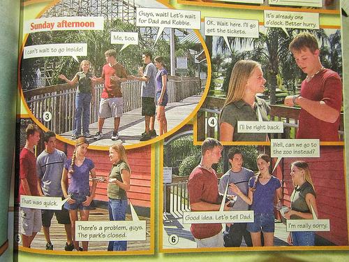 Textbook scene