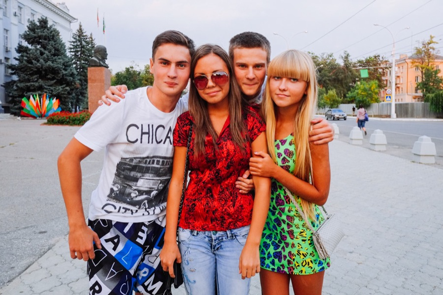 Teenagers in Tiraspol