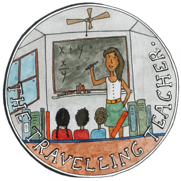 An illustration of a traveling teacher