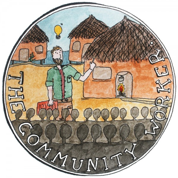 An illustration of a community worker