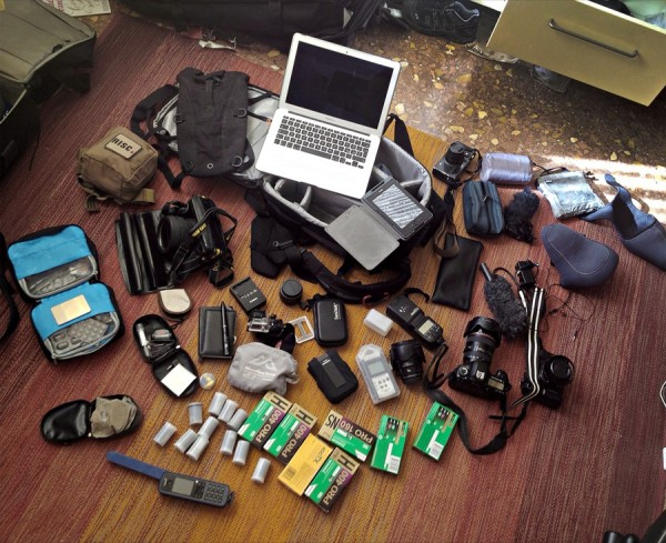 Tombola's gear spread out