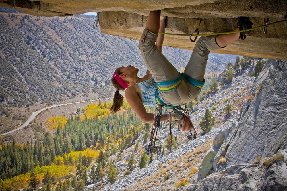 Sanda Horna climbing