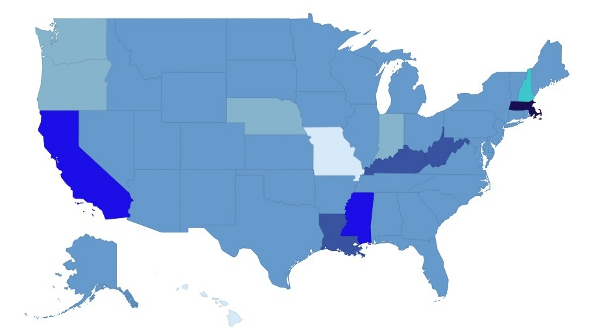 Mapped: US states by legal marrying age