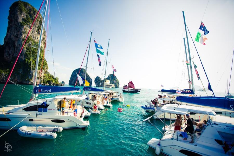 Yachts near each other