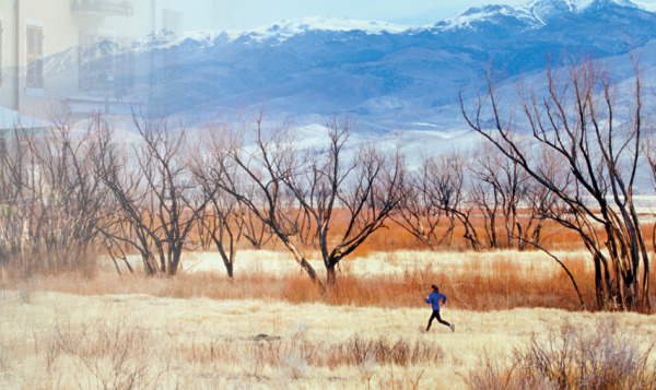 A runner in the Eastern Sierra