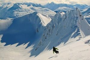 Snowboarder in Alaska