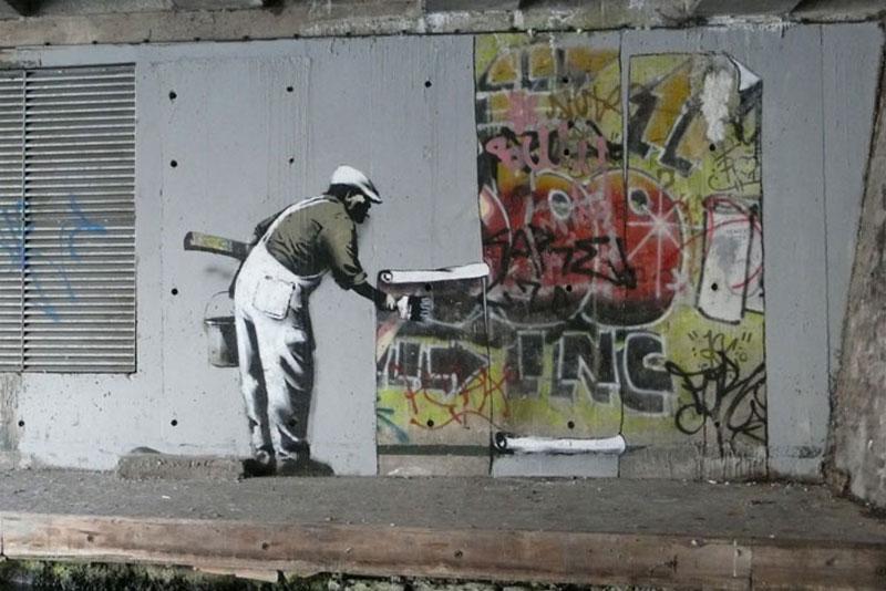 Banksy's defacement.