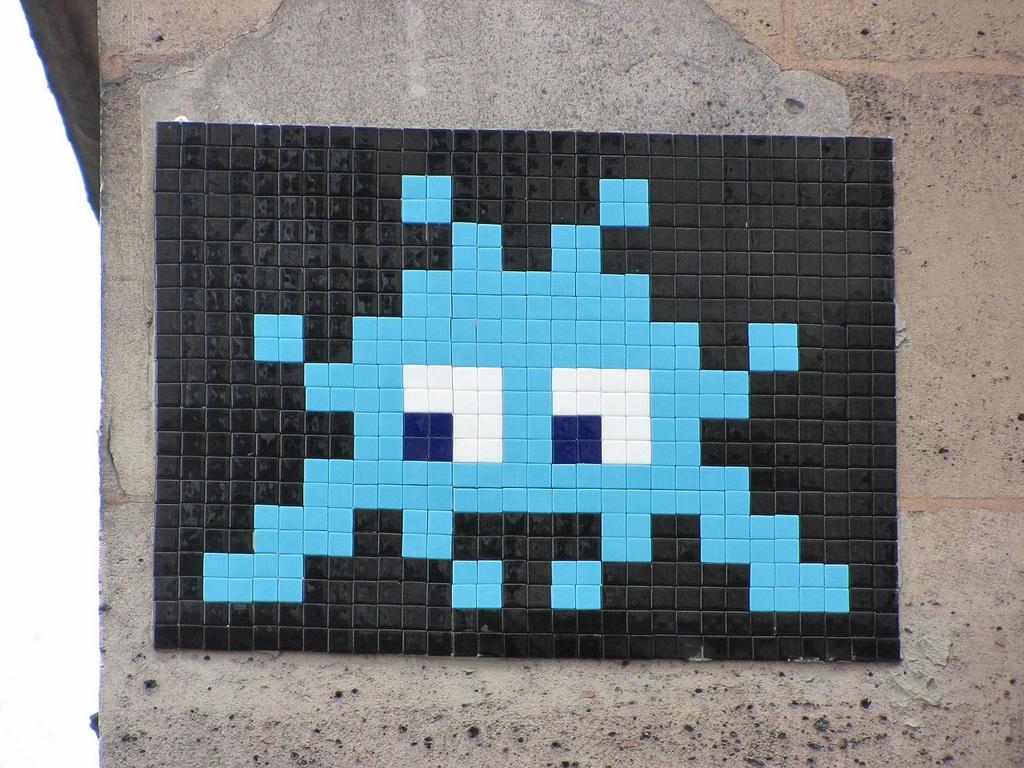 Graffiti art for sale canada - Invader