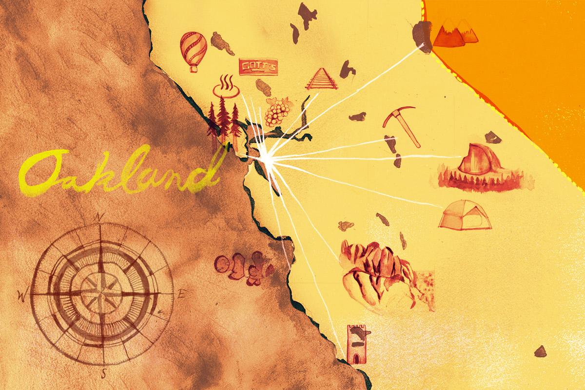 Oakland hub map