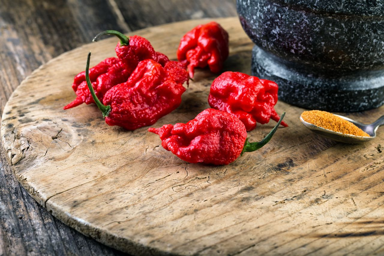 Carolina Reaper peppers