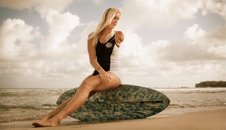 Bethany Hamilton shot at sunrise in Hanalei Bay. My inspiration right there! 1/125@f5.6 ISO 250. 35mm lens. Photo: Mike Coots