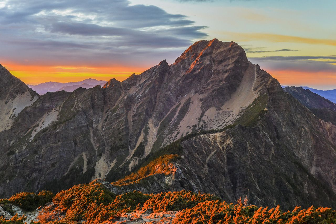 Sunrise at Yushan mountain, Taiwan
