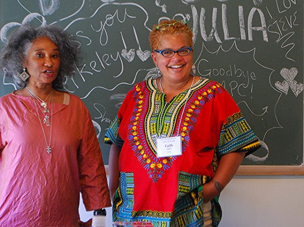 Elaine Lee, Editor of Go Girl: The Black Woman's Book of Travel and Adventure and Faith Adiele, author of Meeting Faith: The Forest Journals of a Black Buddhist Nun