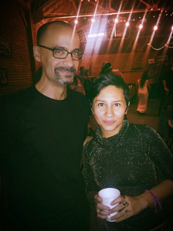 With Junot Díaz at VONA's quinceñera party