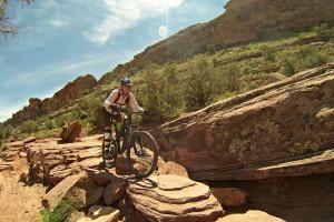 Moab mountain biker