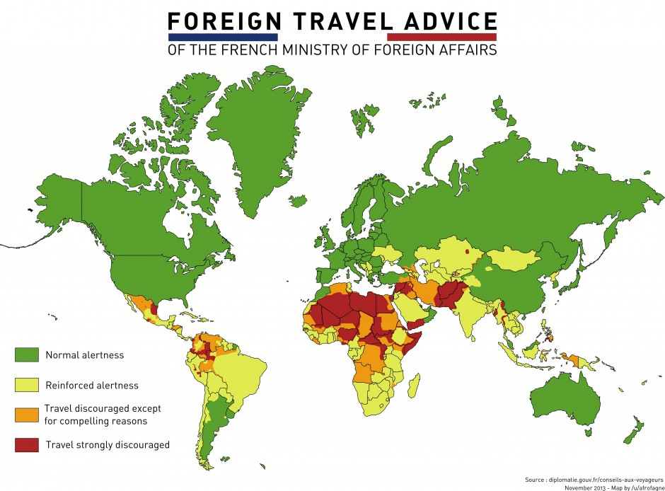 Where it's okay to travel (according to France)
