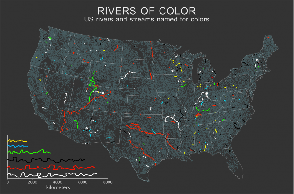 Rivers named after colors