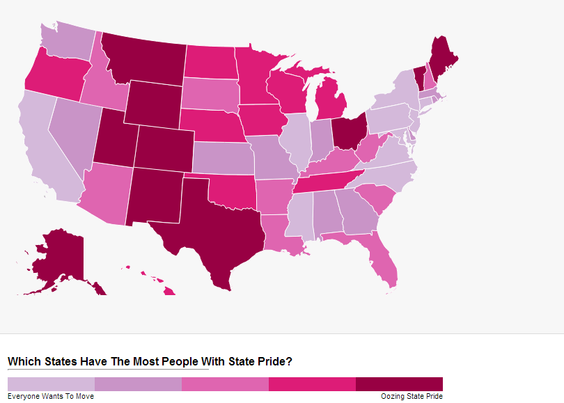 States with the most state pride