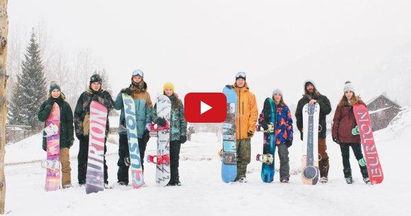 8 snowboarders