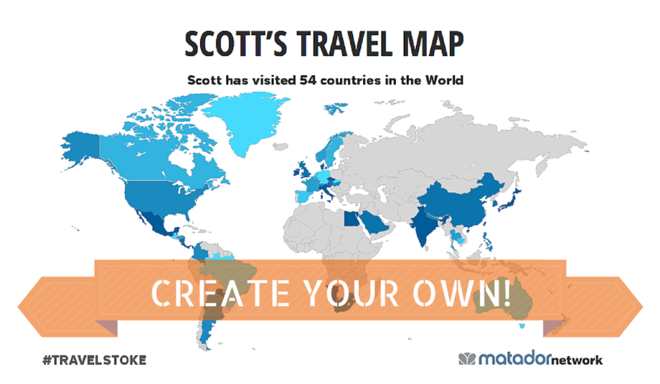 Introducing The Travelstoke World Map Create Yours Today - Make your own travel map