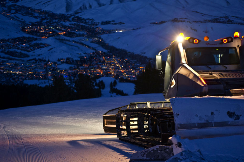Snow Cat twilight Sun Valley