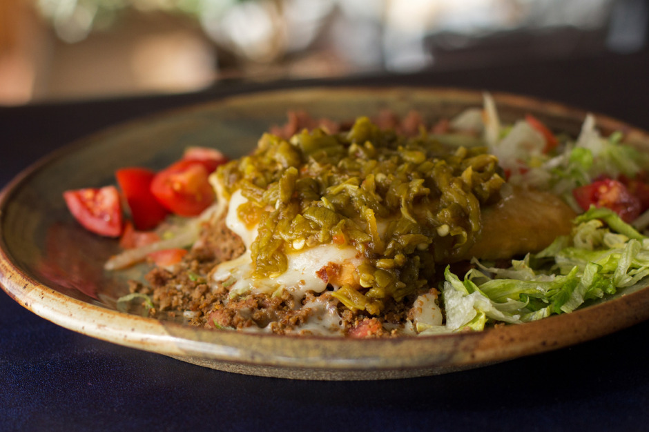 New Mexico stuffed sopapilla