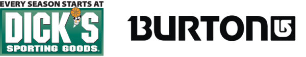 Dick's Sporting Goods + Burton logos