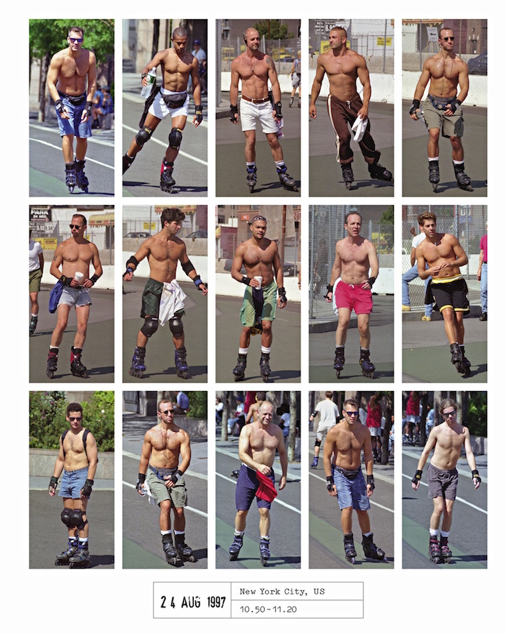 Hans Eijkelboom roller skaters New York people 21st century