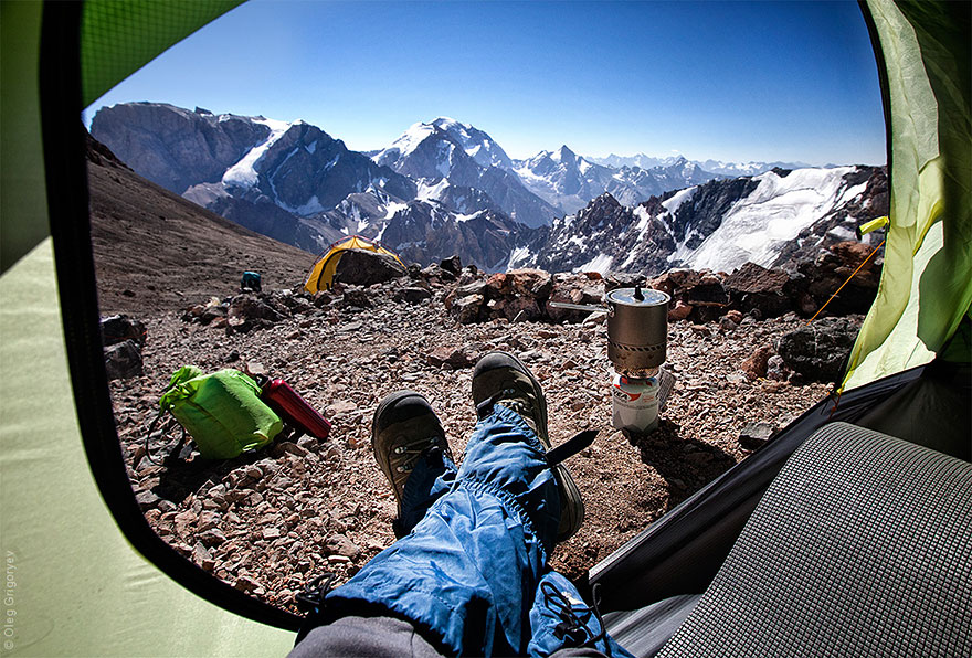These Tajikistan tent views are beyond epic