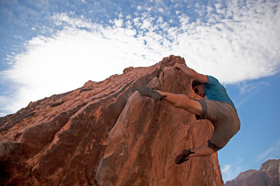 Red Rock climber