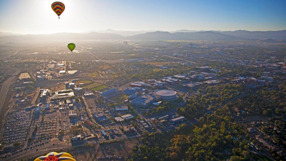 Hot-air balloons over Reno