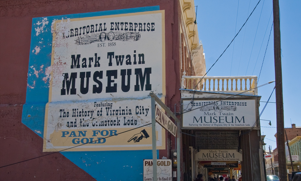 Mark Twain Museum, Virginia City. Photo courtesy of TravelNevada