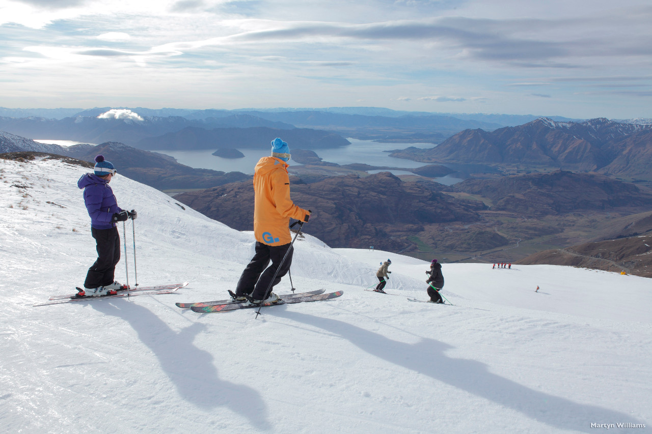 Treble Cone skiing