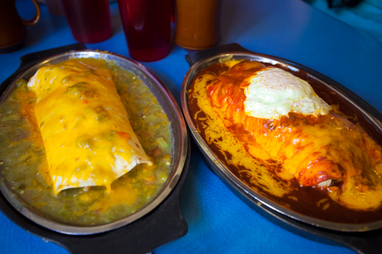 New Mexico breakfast burritos