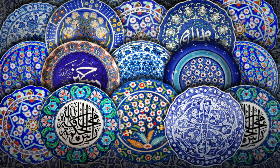 Turquoise plates, Bursa