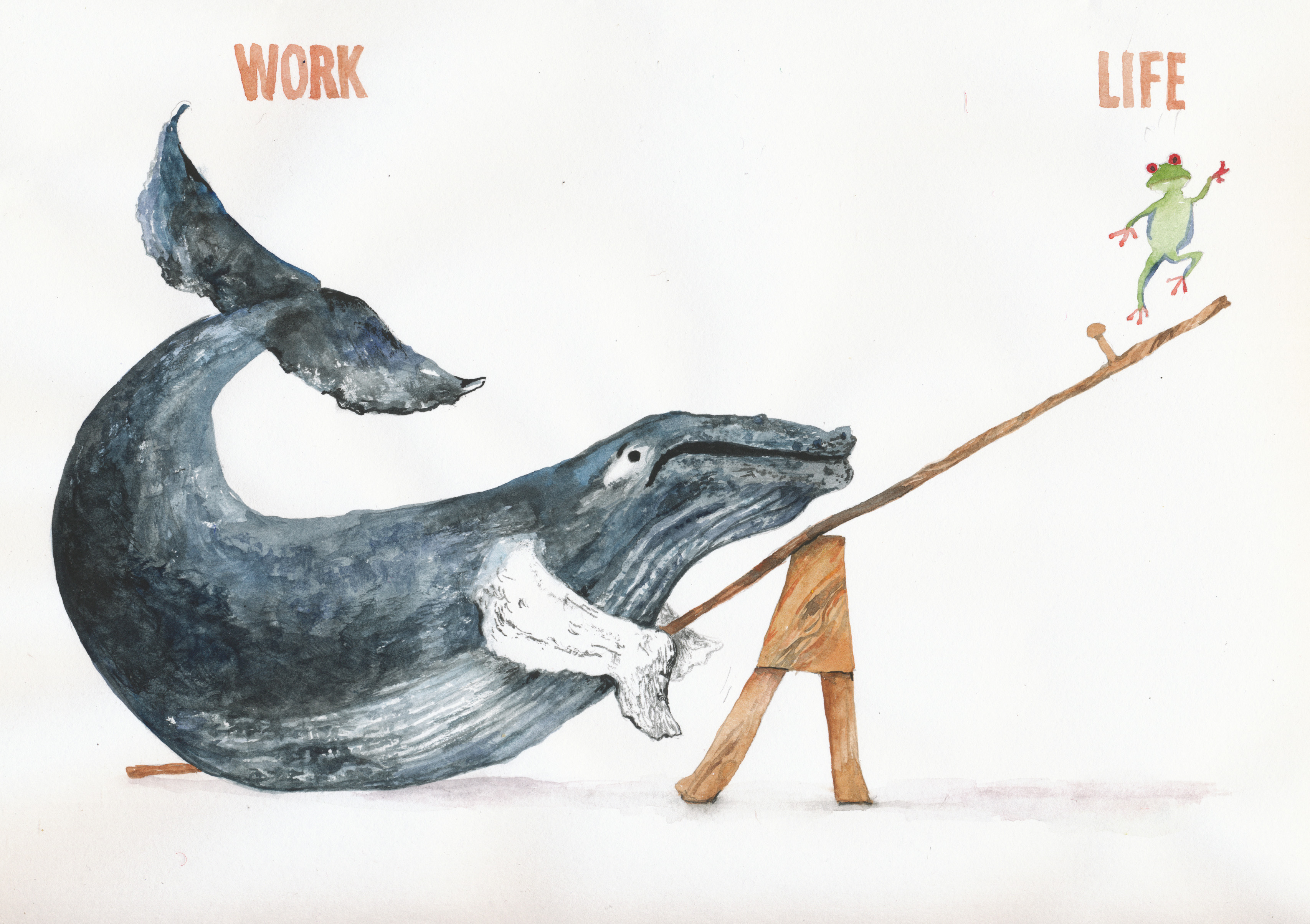 Work-life balance cartoon